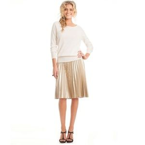 NWT Trina Turk Gold Accordion Skirt 6